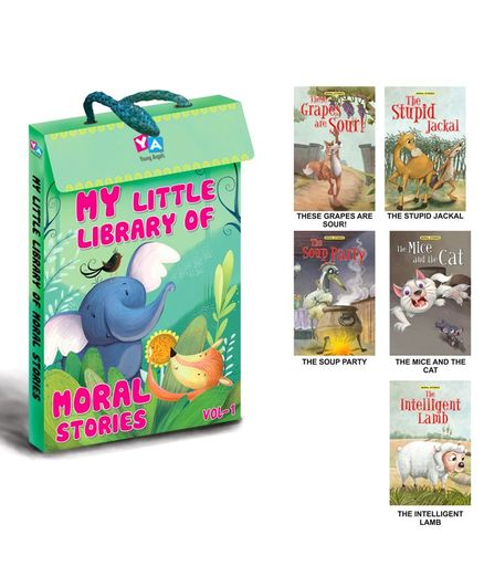 Young Angels My Little Library Of Moral Stories English Pack Of 5 Online in  India, Buy at Best Price from Firstcry com - 721199