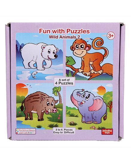 Anindita Fun With Puzzles Wild Animals II Online India, Buy Puzzle Games &  Toys for (3-10 Years) at FirstCry com - 755772
