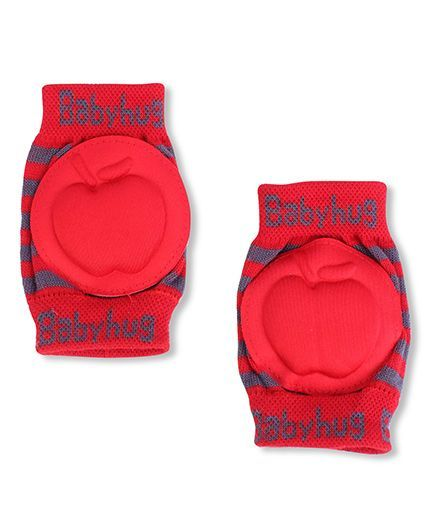 Babyhug Elbow & Knee Protection Pads Apple Design - Red & Grey