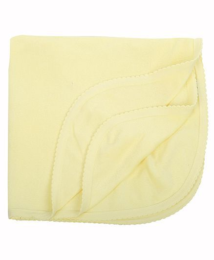 Tinycare Plain Bath Towel - Light Yellow