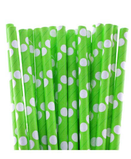 Funcart Polka Dot Paper Straws Green Pack of 25 Online in India, Buy at  Best Price from Firstcry com - 798037