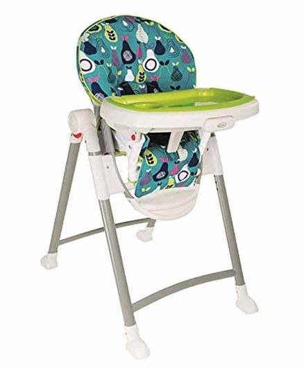 Graco Foldable High Chair Contempo with Wheels - Sea Green