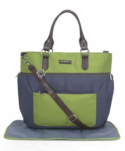 My Milestones Traveller Diaper Bag with Changing Mat - Green