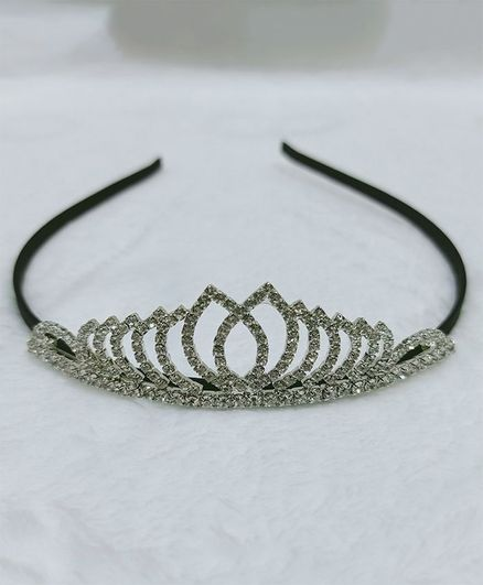 BABY Charm Crown Metal Hair Band Crown - Silver