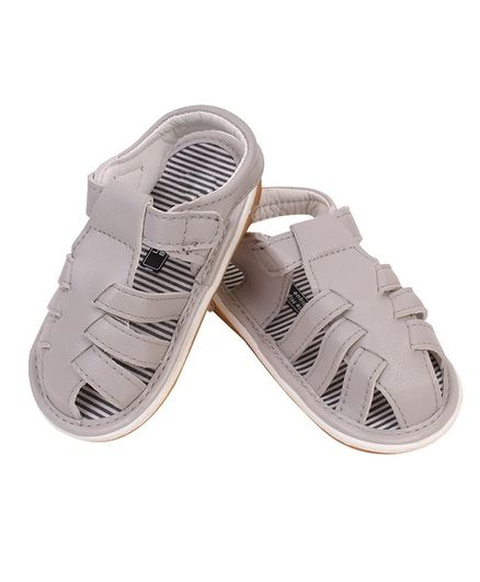 Little Hip Boutique Solid Sandals - Grey