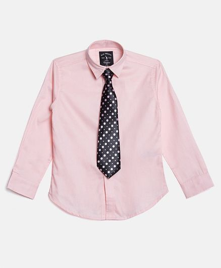 Blue Giraffe Full Sleeves Shirt - Pink