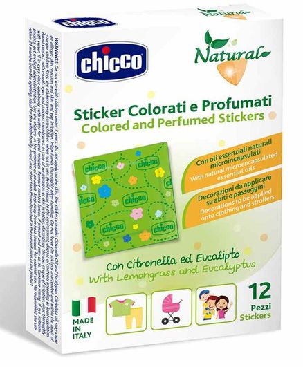 Chicco Colored & Perfumed Mosquito Repellent Stickers - 12 Pieces