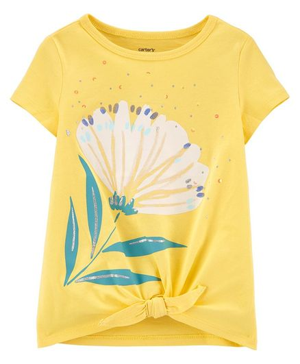 Carter's Floral Jersey Tee - Yellow