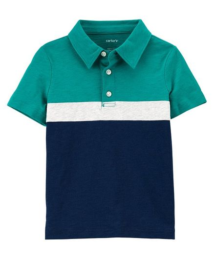 Carter's Slub Jersey Polo - Blue