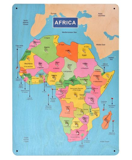 RK Cart Africa Map Board Puzzle Multicolor - 29 Pieces