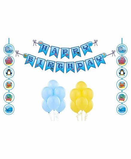 Untumble Underwater Theme Birthday Kit - Pack of 23