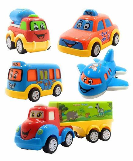 VWorld Pull Back Toy Vehicles Pack of 5 - Multicolor