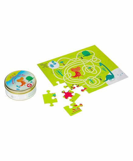 Cocomoco Kids Dinosaur Puzzle With Maze Multicolro - 30 Pieces