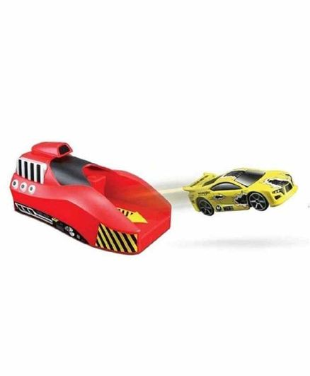 RLS Solutions Rapid Launcher Play Set with 3 Die Cast Metal Stunt Car - Multicolor