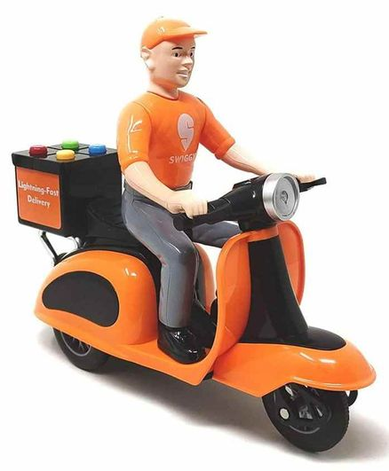 RLS Solutions Swiggy Style Friction Powered Scooter Toy - Orange
