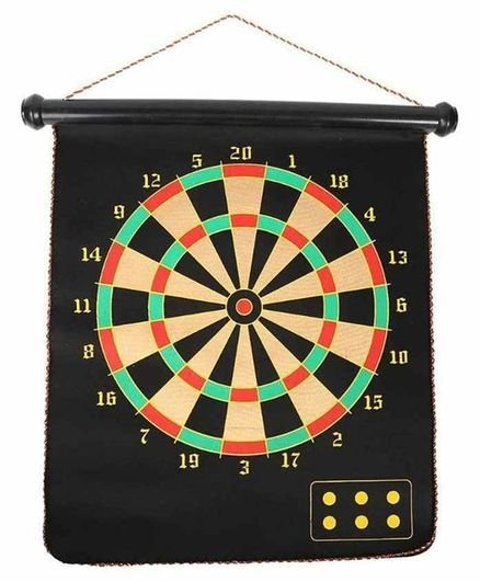 RLS Solutions Magnetic 2 in 1 Dart Board Game and Bull's Eye Game - Black