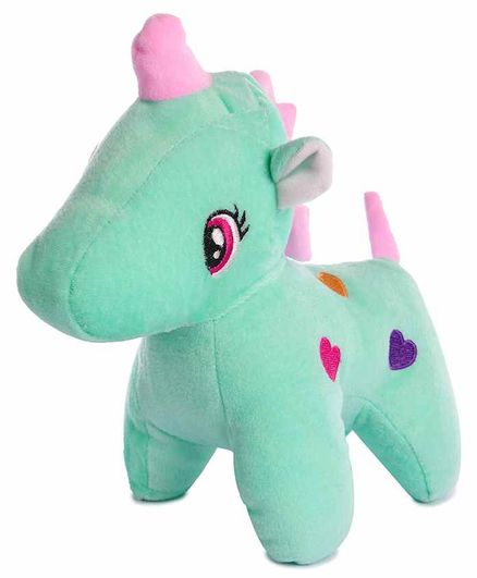 Deals India Unicorn Soft Toy Green- Height 24 cm