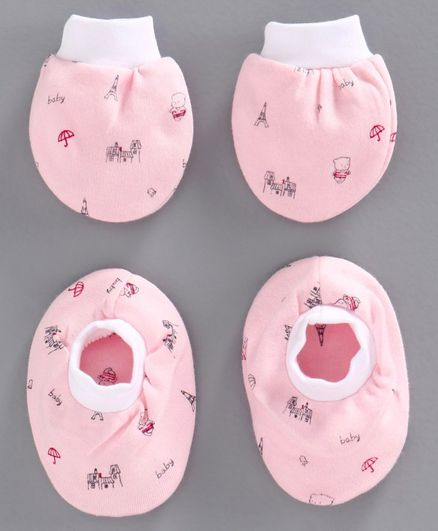 Simply Mittens & Booties Multiprint - Light Pink
