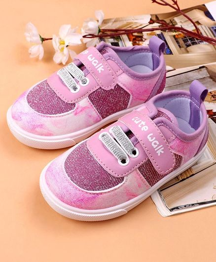 Cute Walk by Babyhug Casual Shoes - Pink White