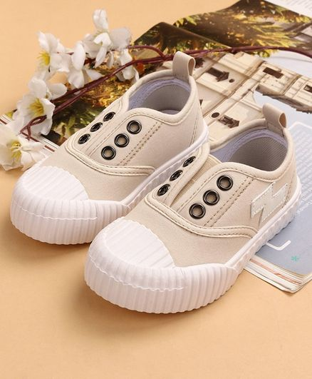 Cute Walk by Babyhug Canvas Shoes - Beige