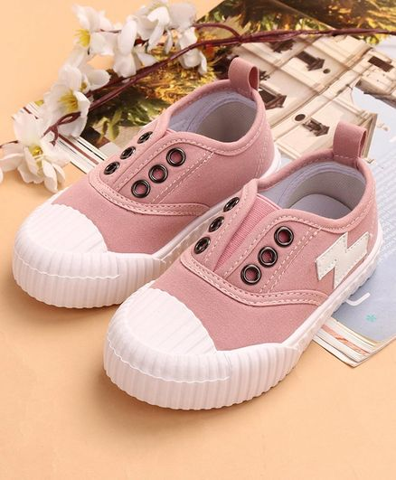 Cute Walk by Babyhug Canvas Shoes - Pink
