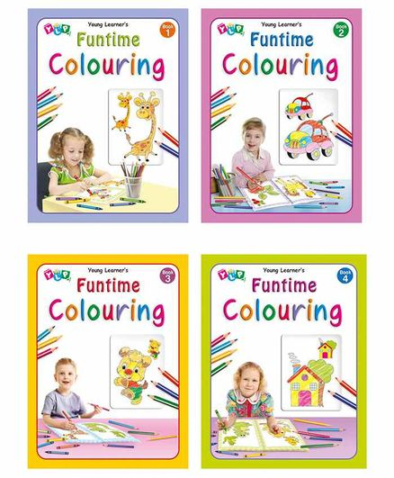 Young Learner Publication Funtime Copy Coloring Books Pack of 4 - English