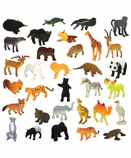 VWorld Wild Animal Figurines Set of 20 - Multicolour