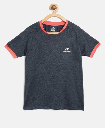 Alcis Half Sleeves Solid Tee - Dark Blue