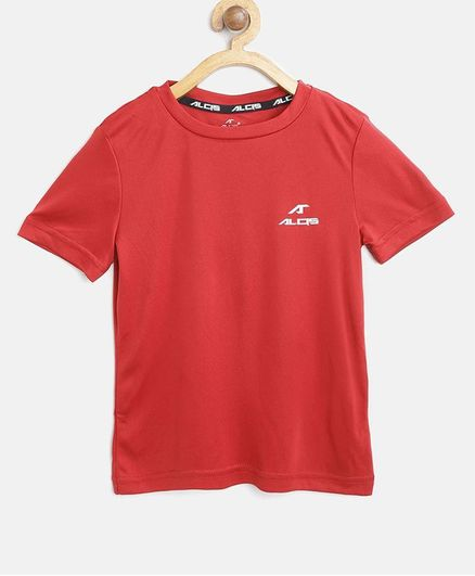 Alcis Solid Half Sleeves Tee - Red