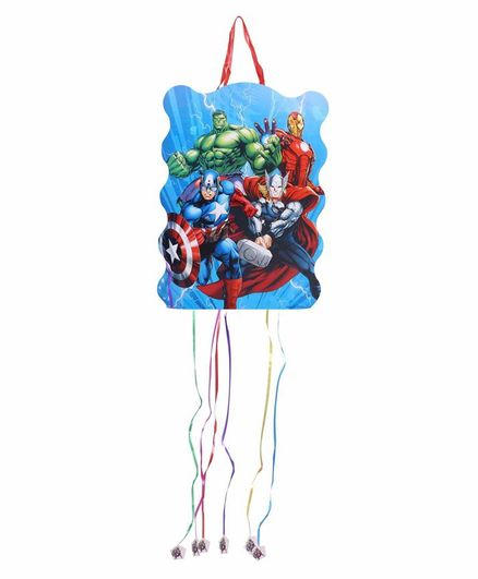 Funcart Pull String Avenger Theme Pinata Bag - Multicolor