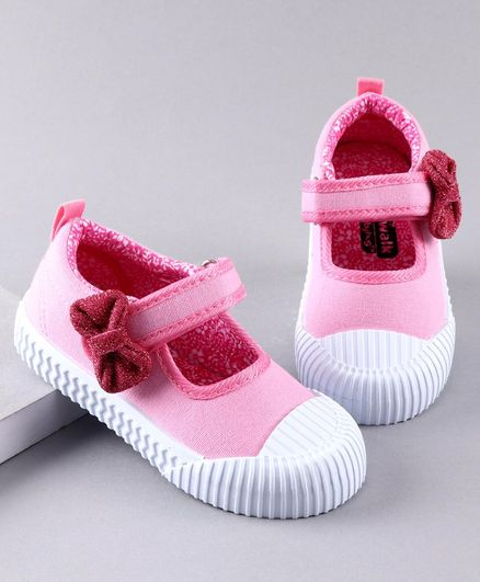 Cute Walk by Babyhug Casual Shoes Bow Applique - Light Pink