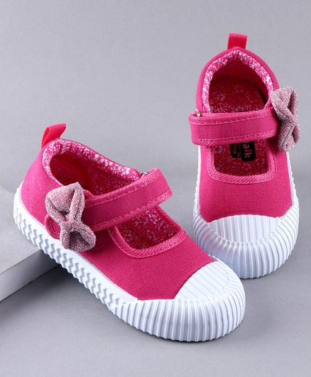 Cute Walk by Babyhug Casual Shoes Bow Applique - Pink