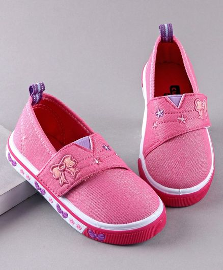 Cute Walk by Babyhug Casual Shoes Bow Embroidery - Pink