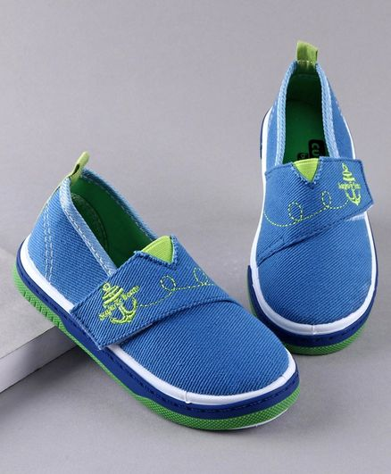 Cute Walk by Babyhug Casual Shoes Anchor Embroidery - Blue