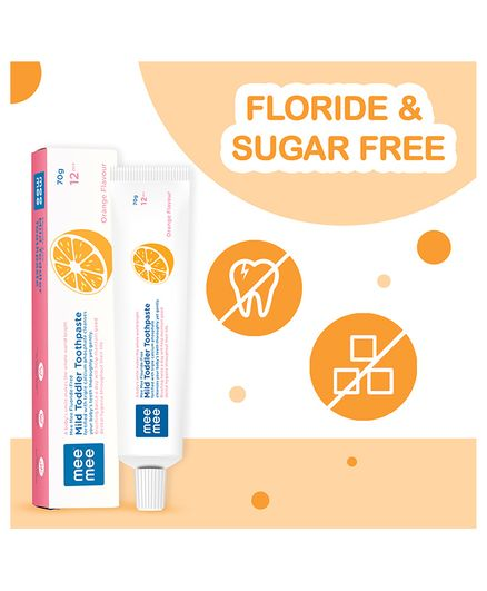 Mee Mee Orange Flavour Toothpaste - 70 gm