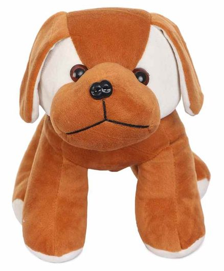 Deals India Standing Puppy Soft Toy Brown - Length 20 cm