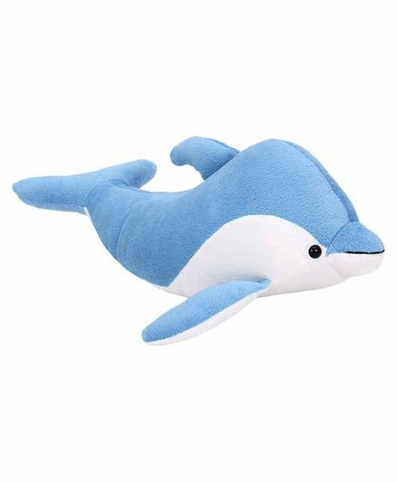 Deals India Dolphin Soft Toy Blue White - Length 32 cm