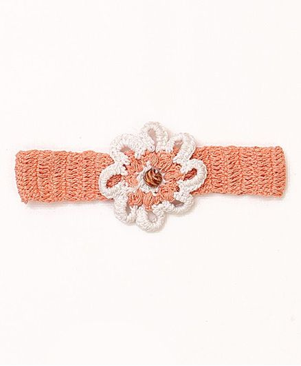USHA ENTERPRISES Flower Crochet Headband - Orange