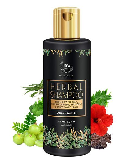 TNW THE NATURAL WASH Herbal Shampoo A Hair Fall Control Shampoo With Exotic Nourishing Herbs (Paraben/Sulphate Free) - 200 ml
