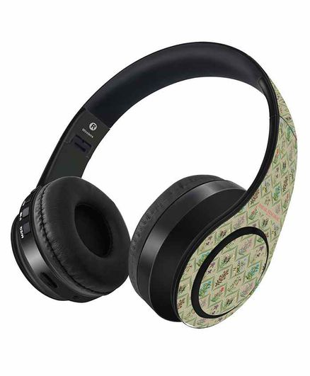 Macmerise Payal Singhal Mughal Motifs Wireless On Ear Headphones - Multicolor