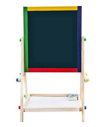EZ Life Easel Wooden 2 in 1 Board with Chalk & Duster Set - Black