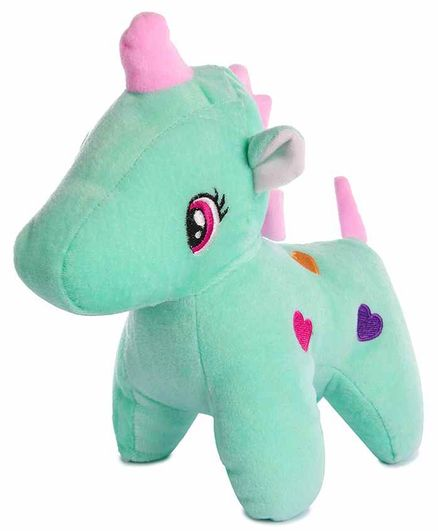 Deals India Unicorn Stuffed Toy Mint Green - Length 25 cm