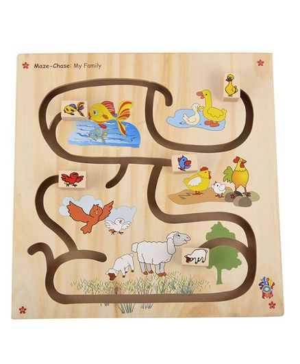 Maze Chase My Family Wooden Online India, Buy Puzzle Games & Toys for (2-6  Years) at FirstCry com - 81355