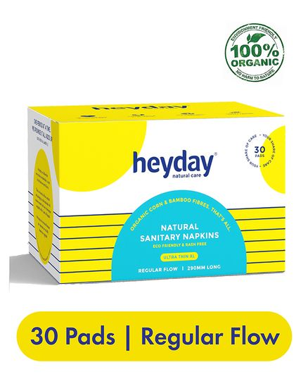 Heyday Natural & Organic Ultra Thin Sanitary Napkins - 30 Pieces