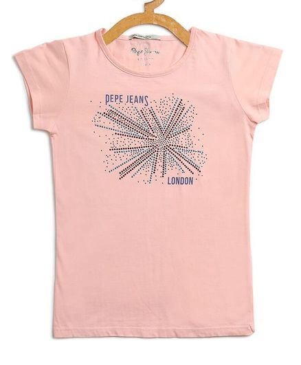 Pepe Jeans Short Sleeves Graphic Tee - Pink