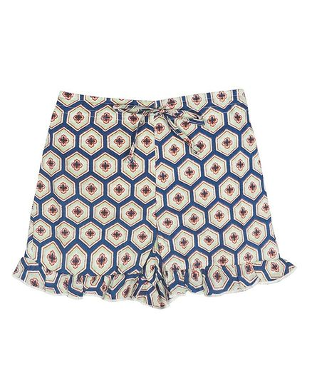 Ikeda Designs Geometrical Print Shorts - Blue