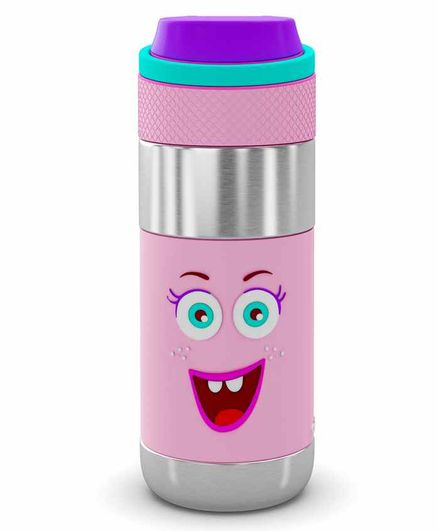 Rabitat Stainless Steel Sipper Water Bottle Pink - 400 ml
