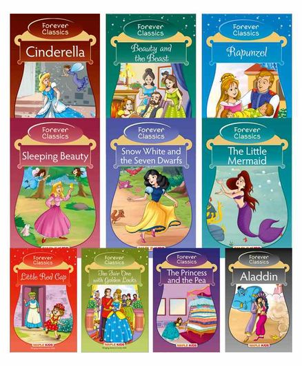Maple Press Princess Fairy Tales Set of 10 Books - English