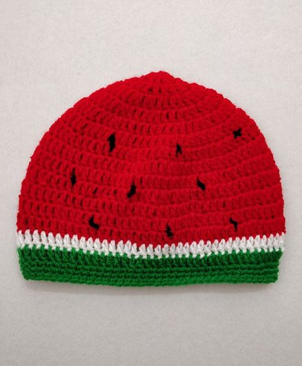 Knit Masters Watermelon Theme Cap - Red