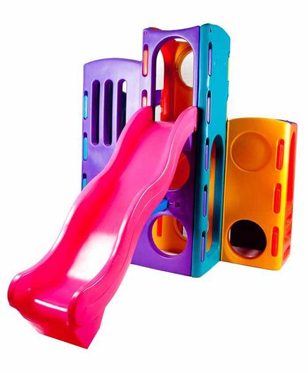 Little Tikes Tropical Playground with Slide - Pink